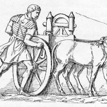 Scene 66 (detail): Roman artillery.Compare Cichorius Plate XLVI.From the original publication of 1865; Ref: F-D-66.