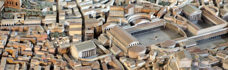 The Forum of Trajan in its urban setting (banner)